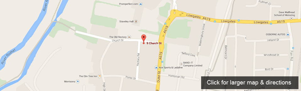 Staveley Dental Care Map and Directions